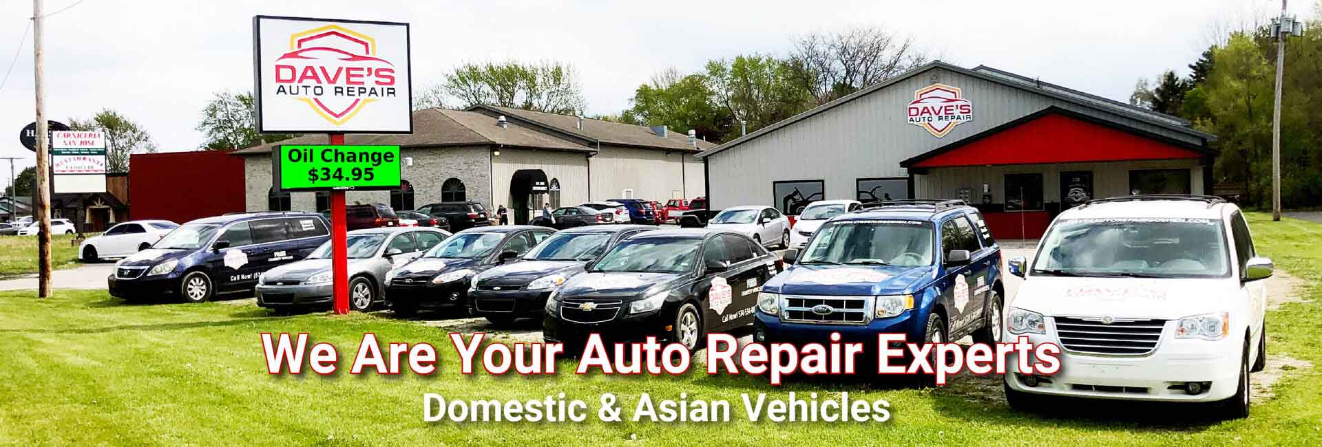 Auto Repair Experts, Domestic and Asian Vehicles